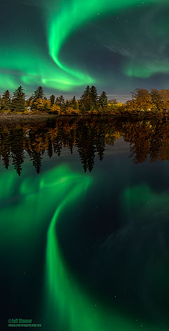 Fairbanks Alaska. Nikon D800E /14-24 Nikkor f2.8 / 15 seconds/ ISO 400 -- Photo by Jeff Stamer