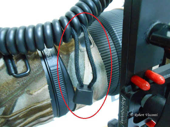 Zipper pull secures cord in place