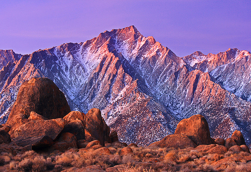 Alabama Hills at Sunrise / Photo by Steve Berardi